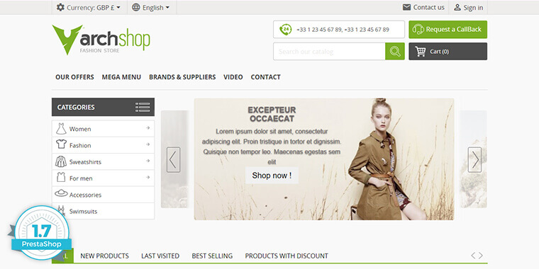 PrestaShop Free Marketplace Themes