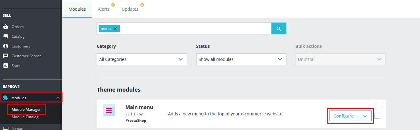 How to add Menu in PrestaShop