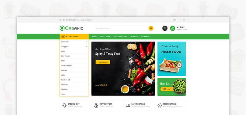 Best Organic Food Shopmart PrestaShop Themes