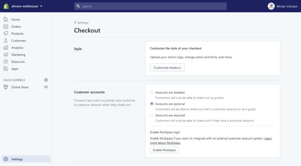 How to Enable User Registration in Shopify