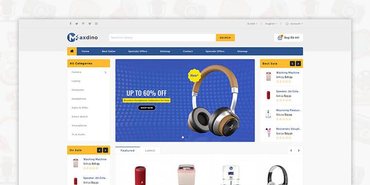 2. Maxdino - Multipurpose Shopify Theme