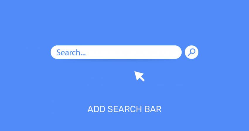 Add-Search-Bar