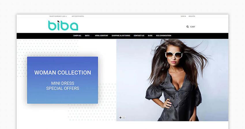 Biba Bigcommerce Theme