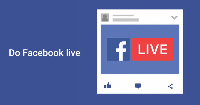 Do Facebook live