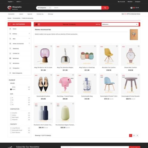 Shopnetix - The MultiStore PrestaShop Theme