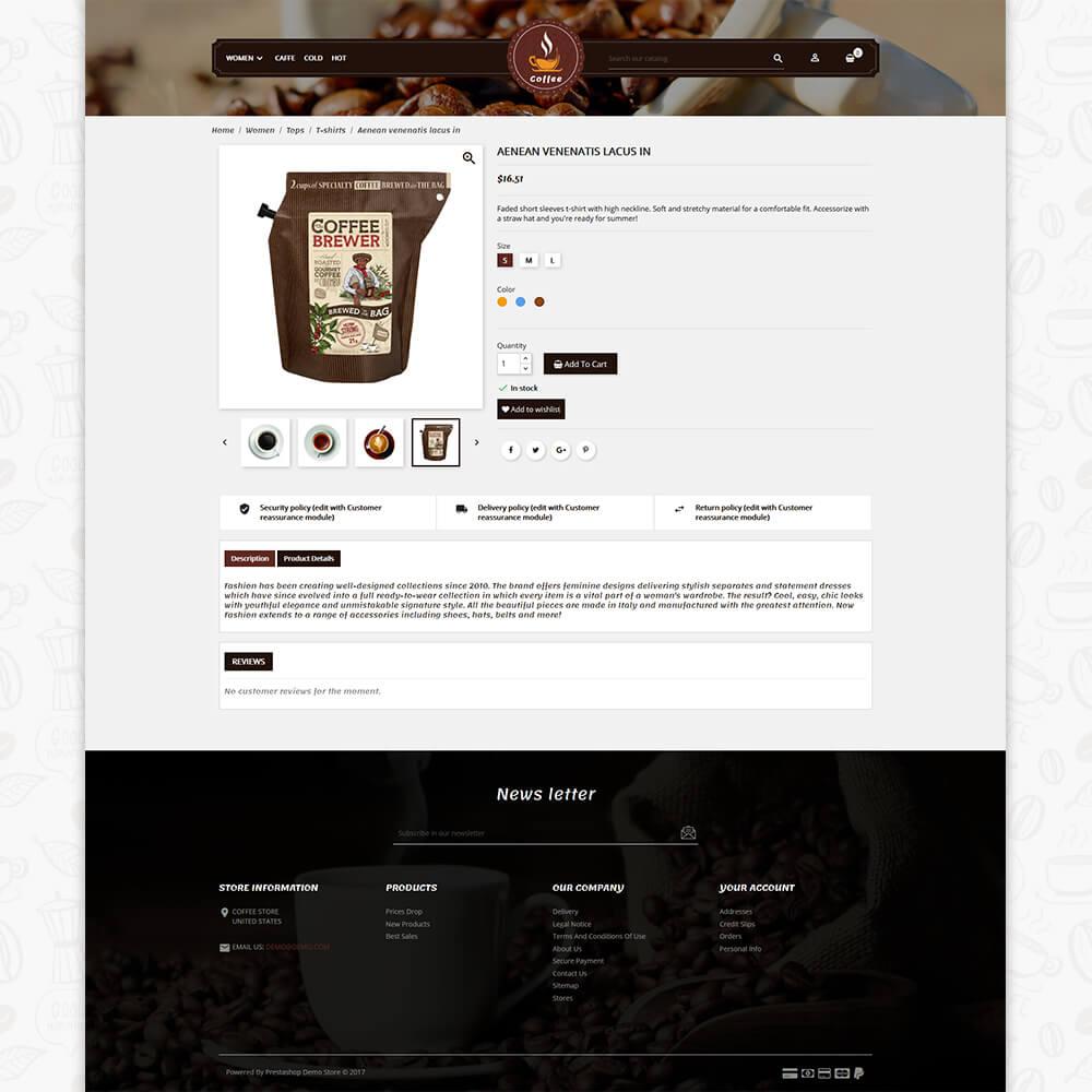 Coffee Multipurpose Stencil Big-Commerce Theme