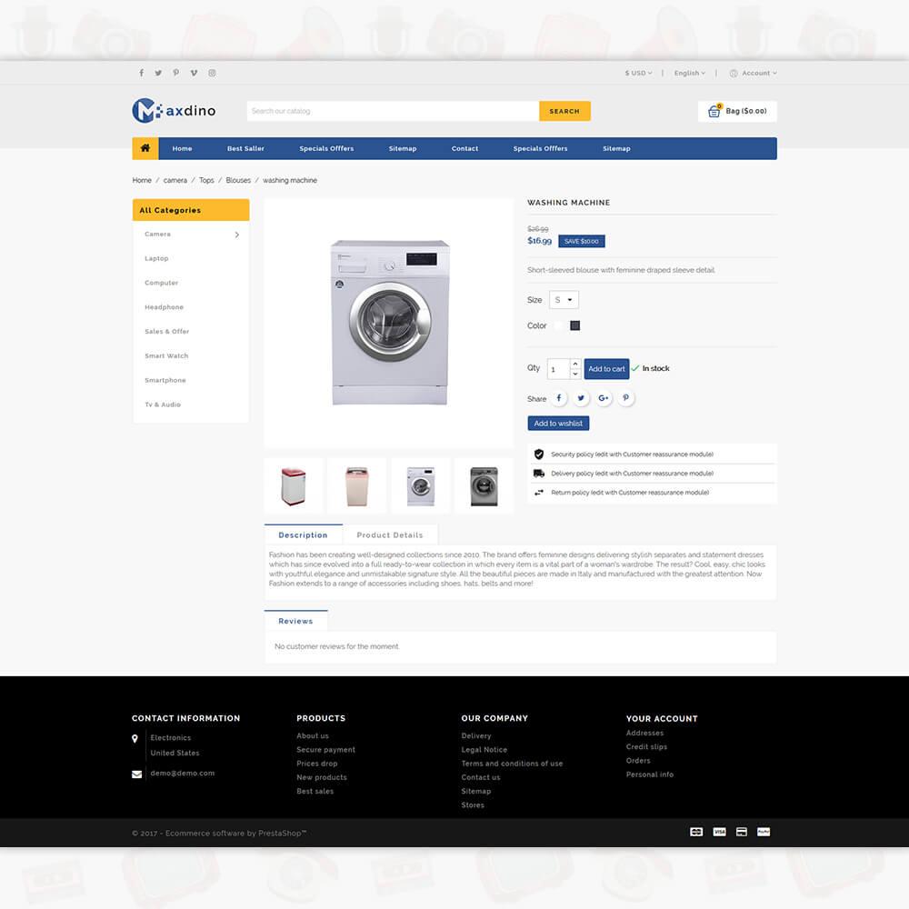 Maxdino 3.0.X Opencart MultiPurpose Responsive Theme