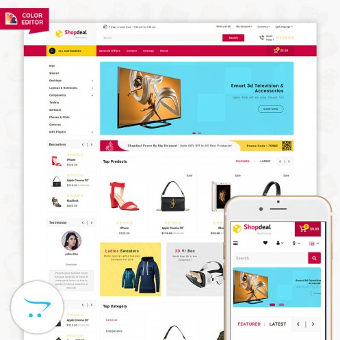 Shopdeal 3.0.X Opencart MultiPurpose Responsive Theme