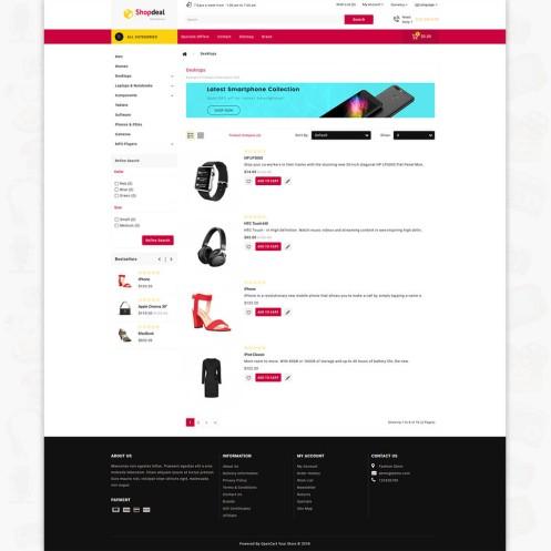 Shopdeal  OpenCart MultiPurpose Responsive Theme