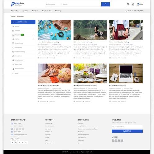 Paystore 3.0.X Opencart MultiPurpose Responsive Theme