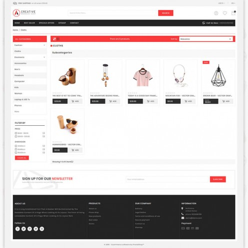 Creative MultiPurpose Responsive Shopify Theme