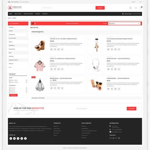Creative MultiPurpose Responsive Shopify Theme