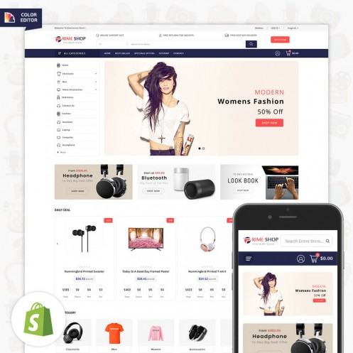Primeshop MultiPurpose Responsive Shopify Theme