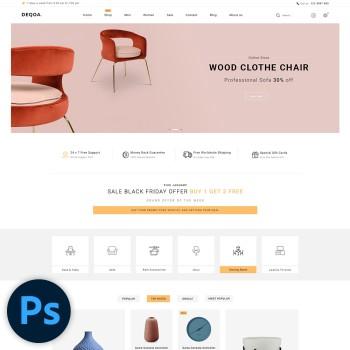 Deqoa Furniture PSD Template