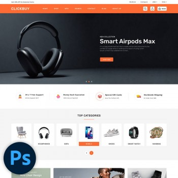 Clickbuy Multistore PSD Template