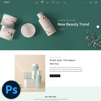 Cosmo Cosmetic Store PSD Template