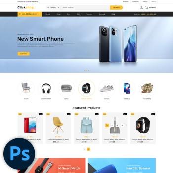 Clickshop Multistore PSD Template
