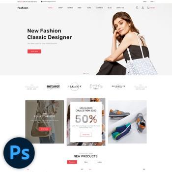 Fasheen Fashion PSD Template
