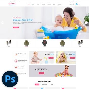 Kidszone Kids Store PSD Template