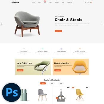 Boxama Furniture PSD Template