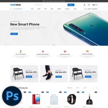 Shopbug Multistore PSD Template