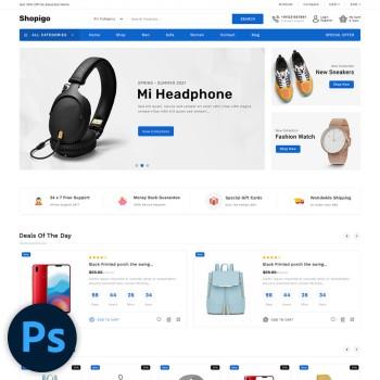 Shopigo Multistore PSD Template