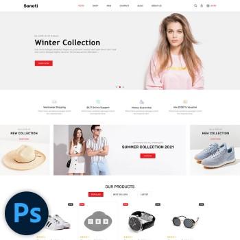 Sonoti Fashion PSD Template