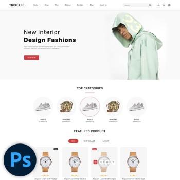 Trixelle Fashion PSD Template