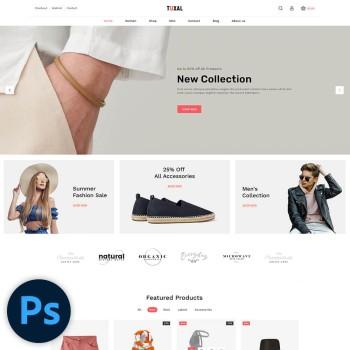 Tuxal Fashion PSD Template