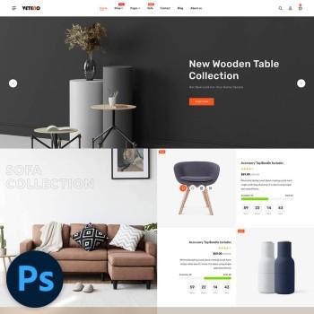 Veteno Furniture PSD Template