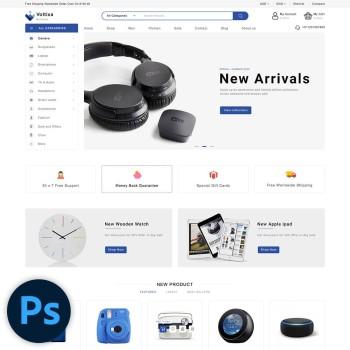 Voltixa Electronics PSD Template