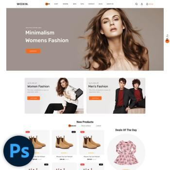 Woxin Fashion PSD Template