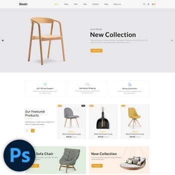 Deskr Furniture PSD Template