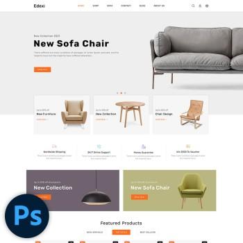 Edexi Furniture PSD Template