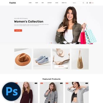 Fashik Fashion PSD Template