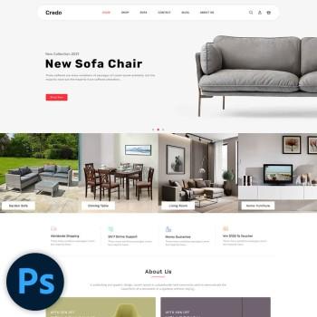 Caedo Furniture PSD Template