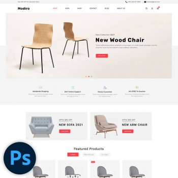 Modiro Furniture PSD Template