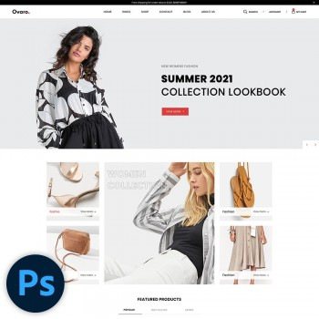 Ovaro Fashion PSD Template