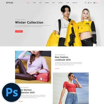 Stylic Fashion PSD Template