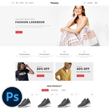 Twazza Fashion PSD Template