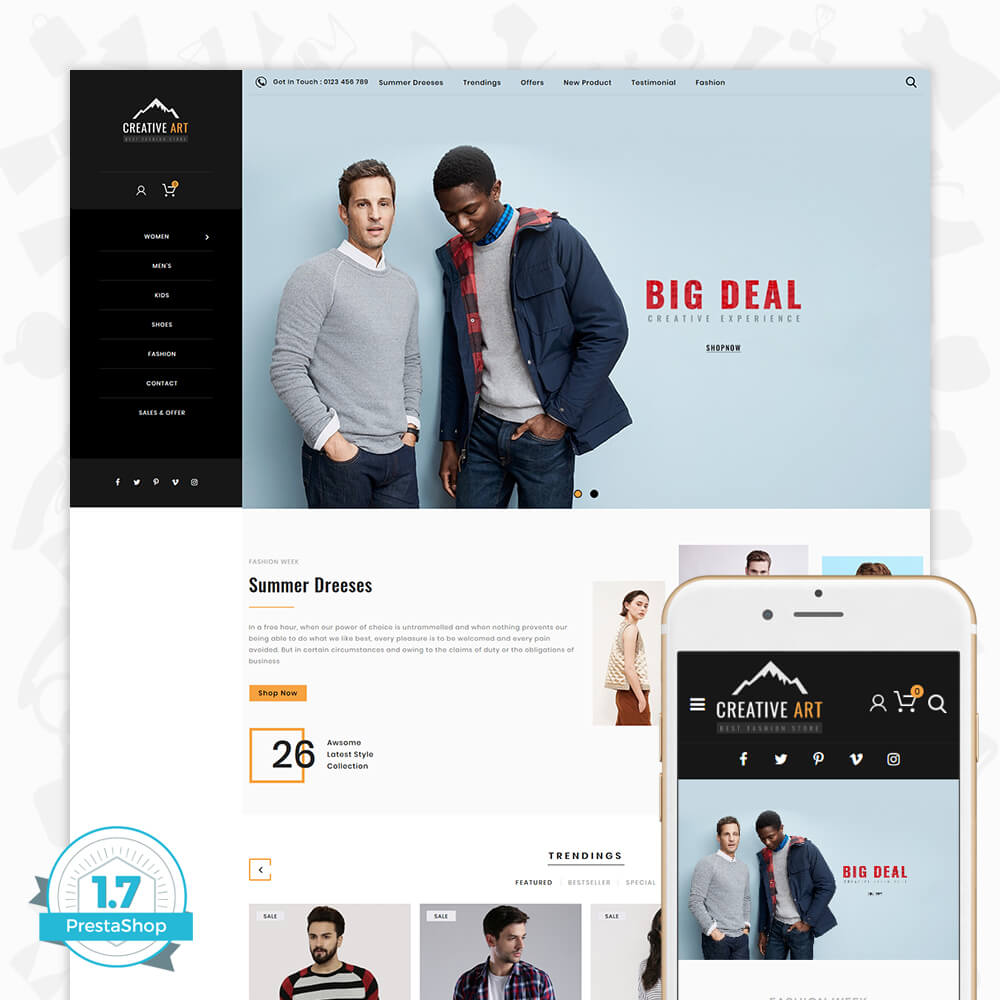 Creative Art - The Fashion Store Template