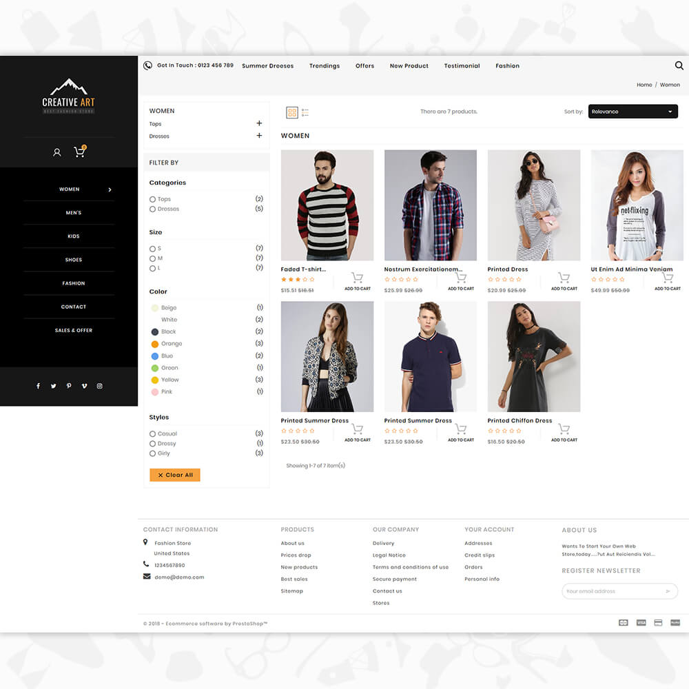 Creative Art - The Fashion Store Template
