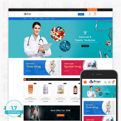 DrugStore PrestaShop Theme