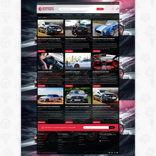 Auto Store PrestaShop Theme