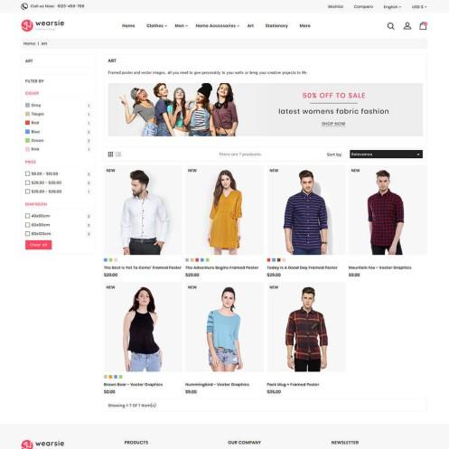 Wearsie - The Fashion PrestaShop Theme