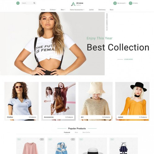 Arvesa - The Fashion PrestaShop Theme
