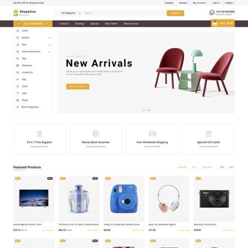 Shopative - The MultiStore PrestaShop Theme
