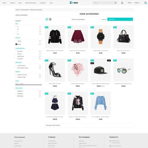 Zinaso - The Fashion PrestaShop Theme