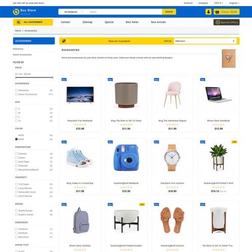 Buystore - The MultiStore PrestaShop Theme
