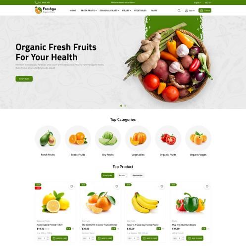 FreshGo The Best Organic PrestaShop Theme